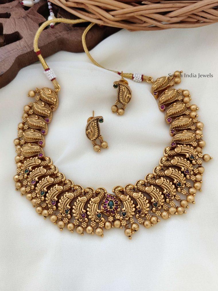 Antique Peacock Design Necklace