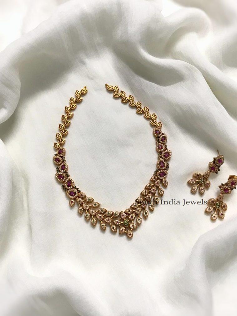 Beautiful AD Stone Necklace Set