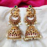 Beautiful Bridal Peacock Jhumka