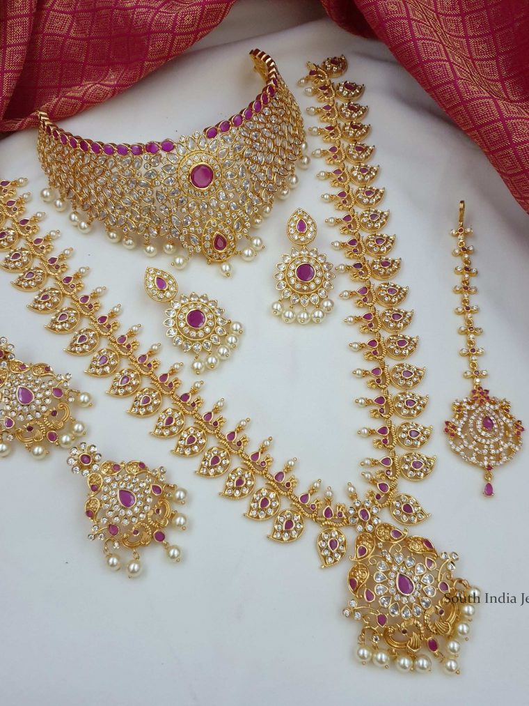 Beautiful Gold Replica Bridal Combo