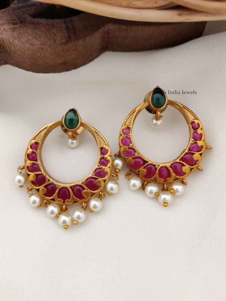 Beautiful Kemp Chandbali Earrings