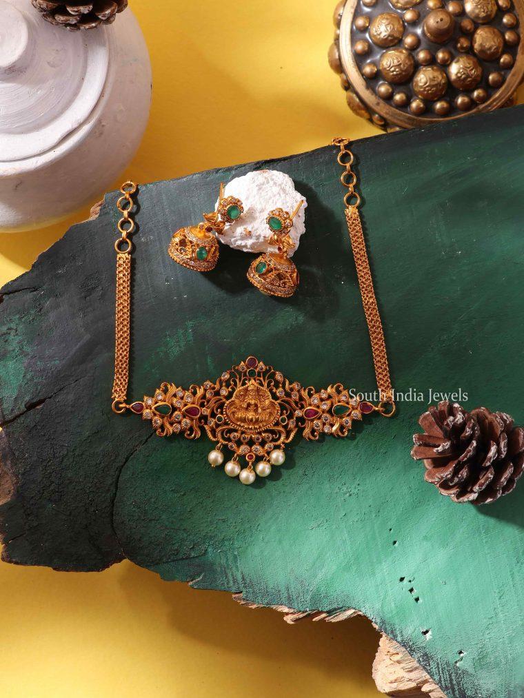 Beautiful Lakshmi Design Choker Set