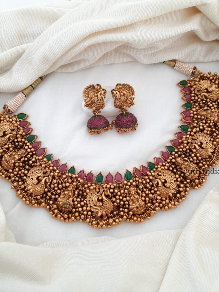 Beautiful Lakshmi Design Nagas Choker Set