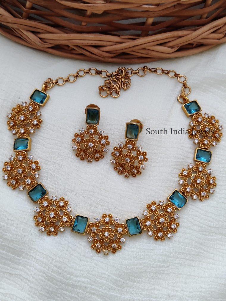 Beautiful Light Blue Color Necklace