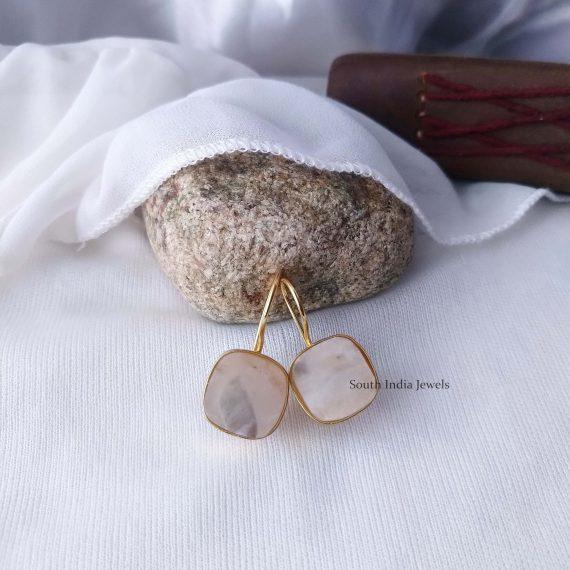 Beautiful Natural Raw Crystal Hook Earrings (10)