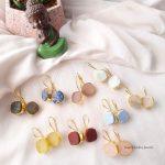Beautiful Natural Raw Crystal Hook Earrings (2)