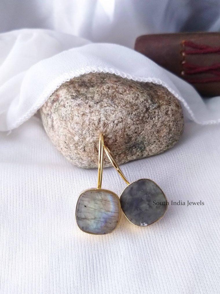Beautiful Natural Raw Crystal Hook Earrings (3)