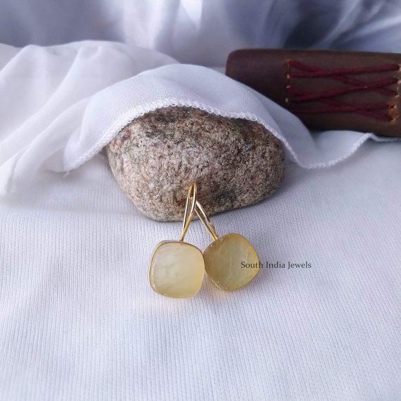 Beautiful Natural Raw Crystal Hook Earrings (4)