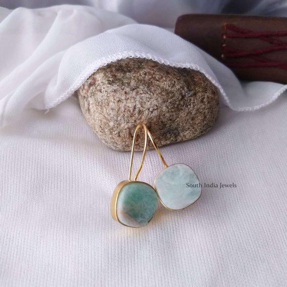 Beautiful Natural Raw Crystal Hook Earrings (6)