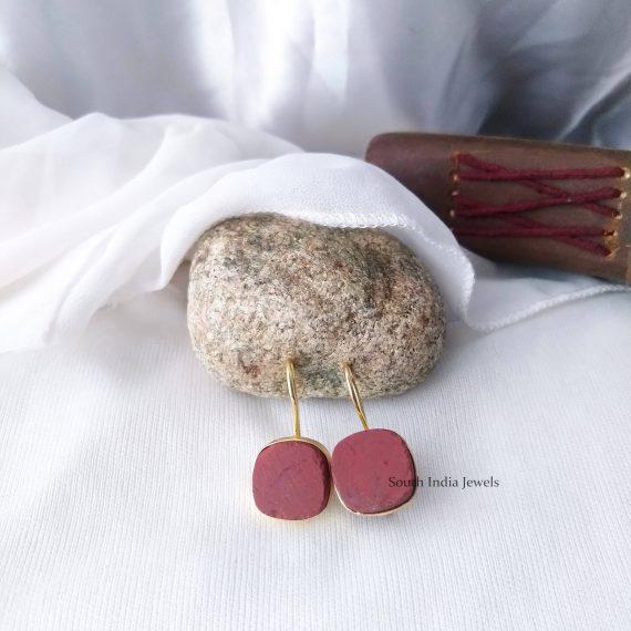 Beautiful Natural Raw Crystal Hook Earrings (8)