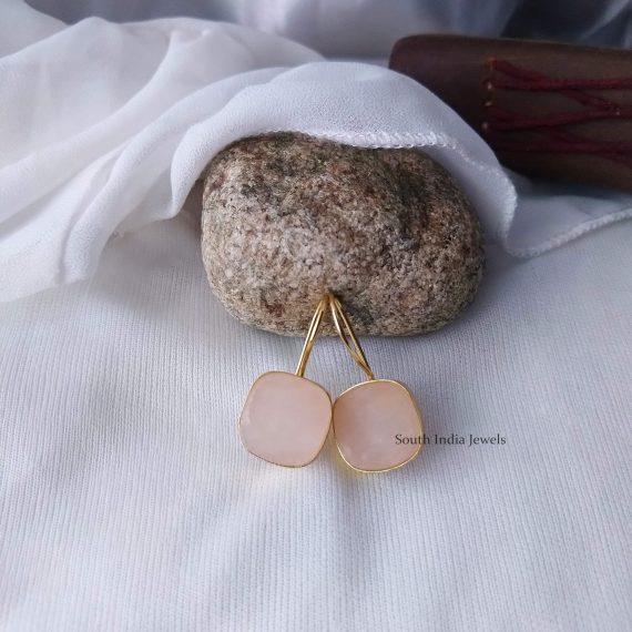 Beautiful Natural Raw Crystal Hook Earrings (9)