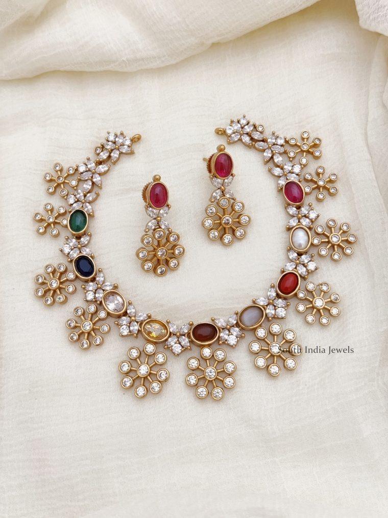 Beautiful Navarathna Stone Necklace (2)