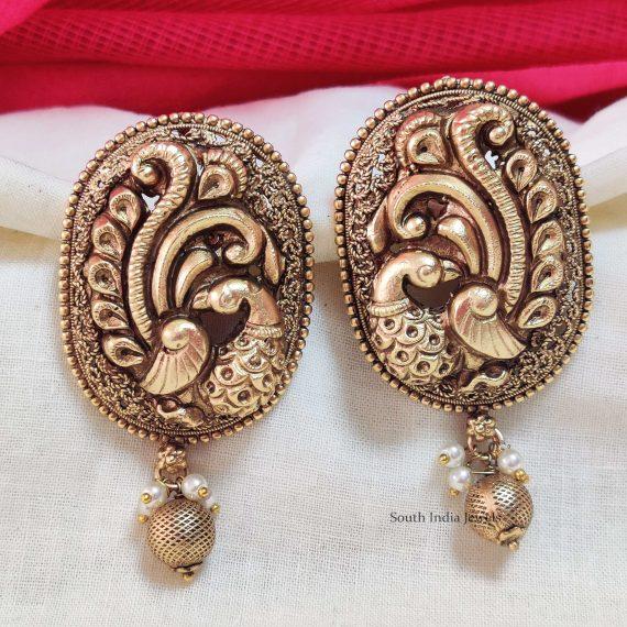 Beautiful Peacock Design Earrings (2)