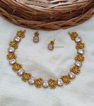 Beautiful Swan Design AD Stone Necklace