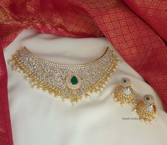 Beautiful Wedding Choker with Jhumkas