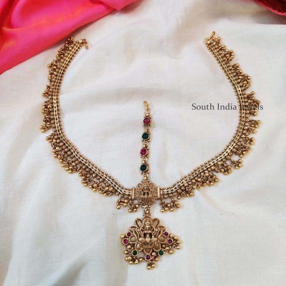 Bridal Lakshmi Double Sided Maang Tikka