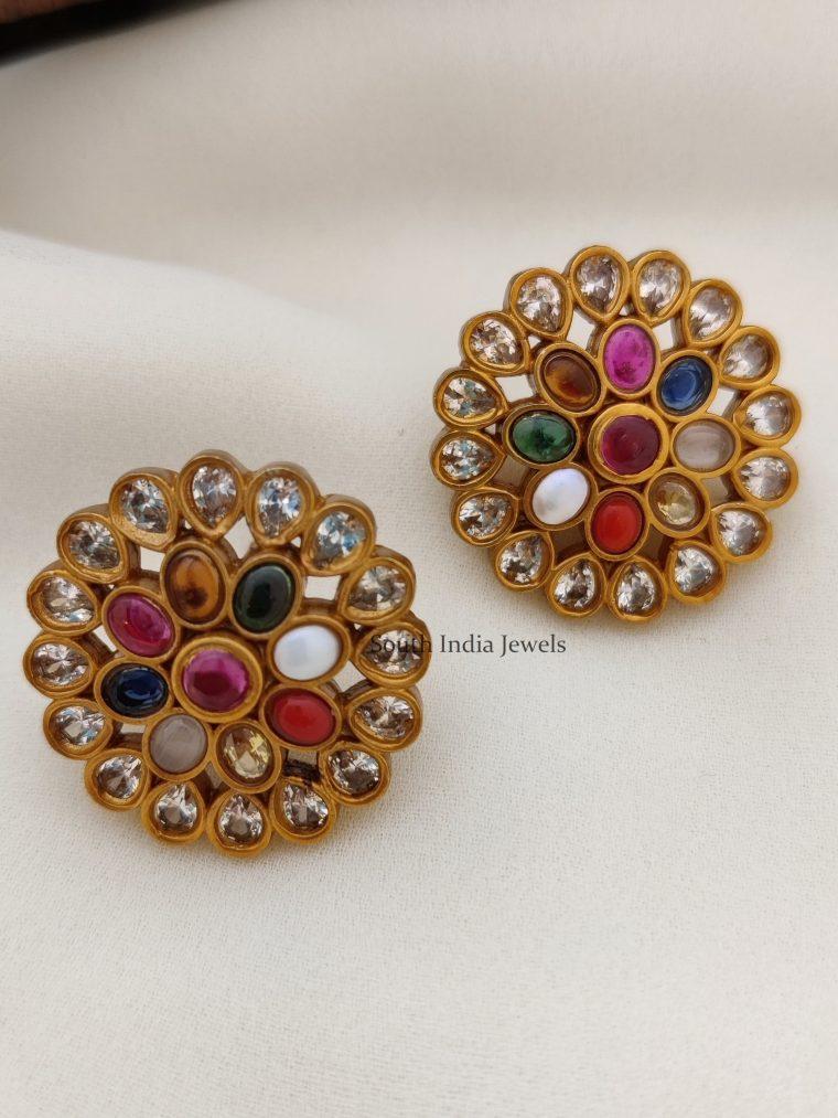 Classic Navarathna Stones Earrings