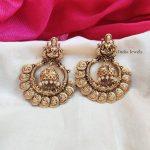 Coin Design Imitation Chandbali Earings With Pearl Beads - 01