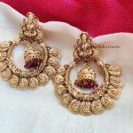 Coin Design Imitation Chandbali Earings With Pink Beads - 01