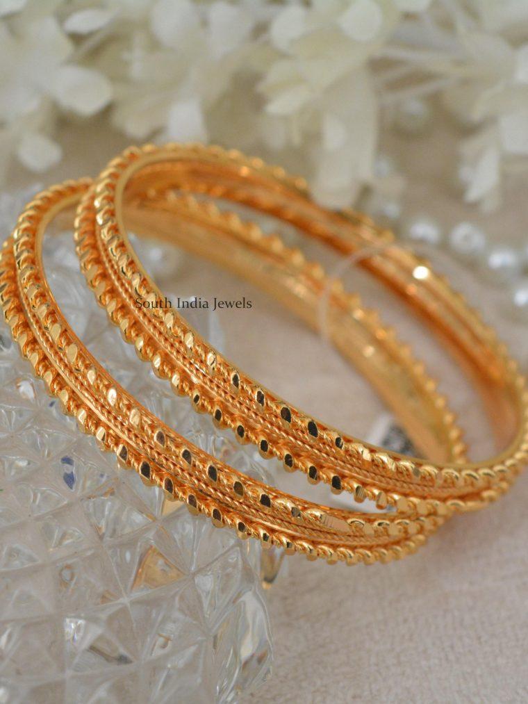 Daily Wear Gold Polish Bangles
