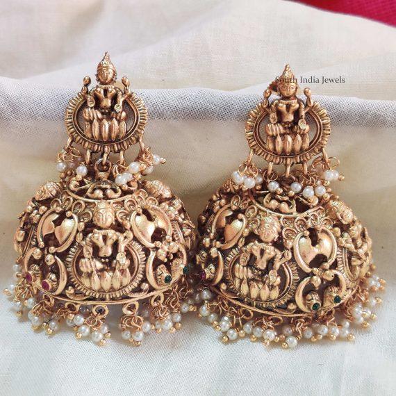 Elegant Lakshmi Design Jhumkas (2)