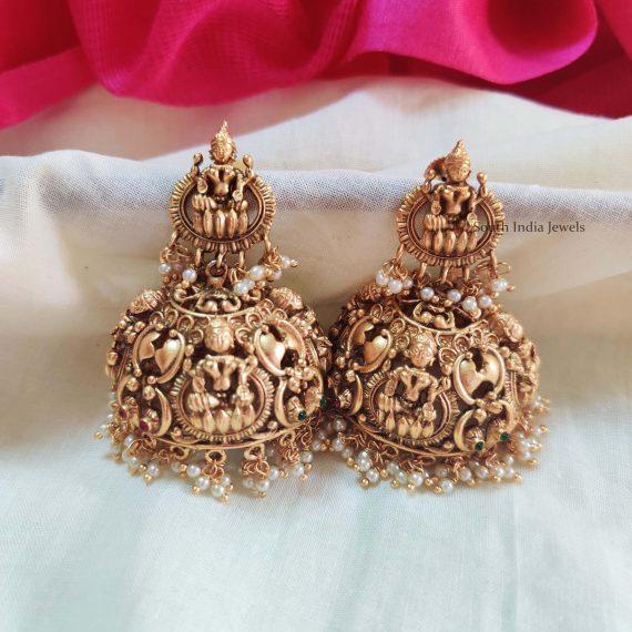 Elegant Lakshmi Design Jhumkas
