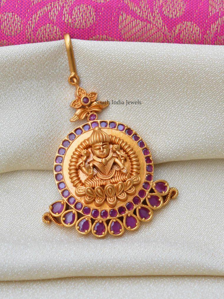 Elegant Lakshmi Design Maang Tikka