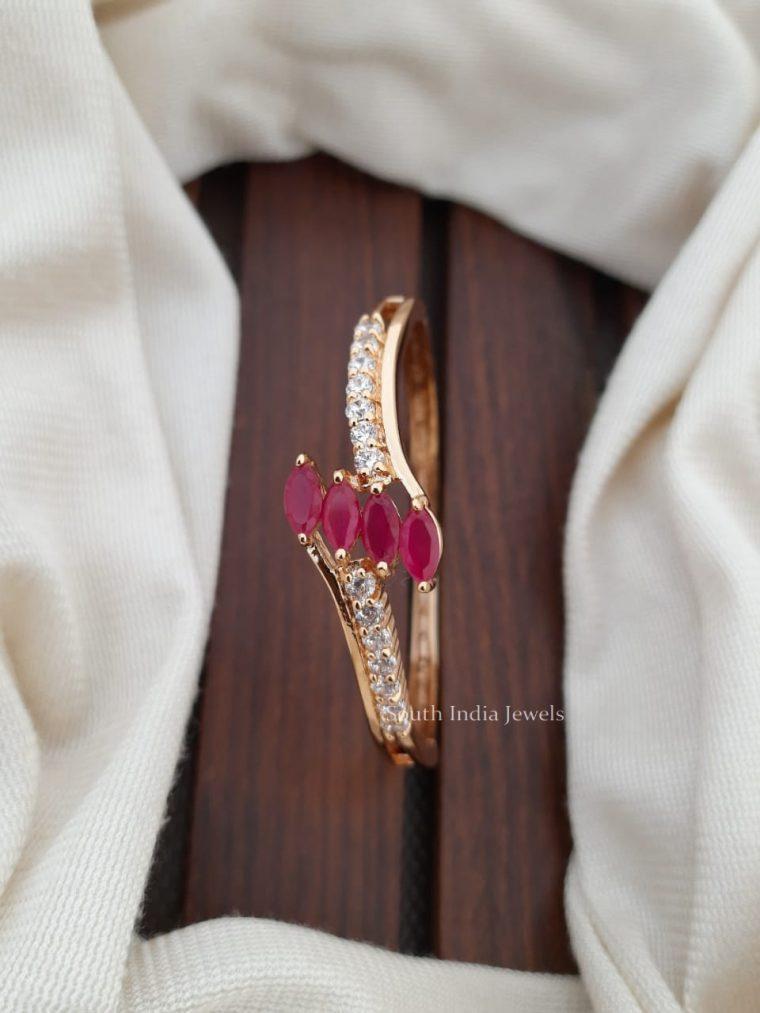 Elegant Pink & CZ Stone Bracelet