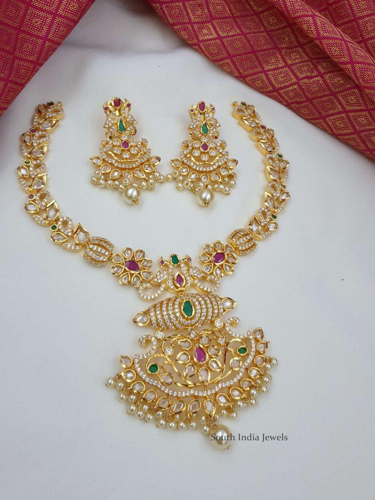 Exclusive Uncut Stone Necklace