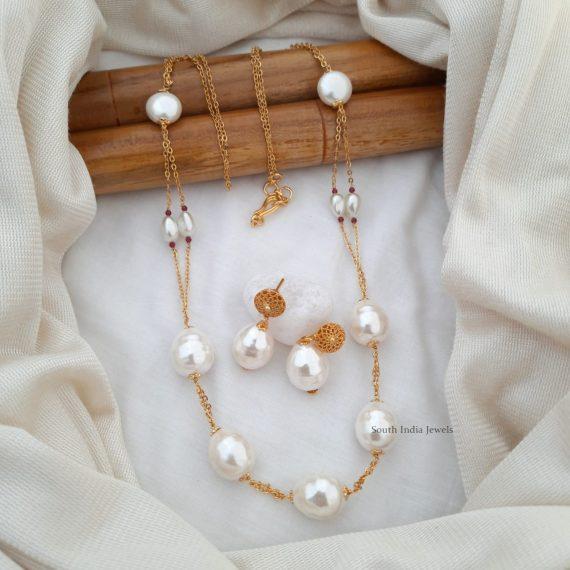 Fancy Baroque Pearl Chain (2)