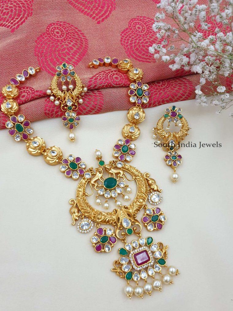 Gorgeous Matte Finish Necklace Set