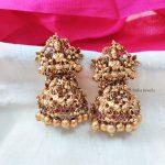 Grand Floral Bridal Temple Jhumka-01