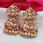 Grand Floral Bridal Temple Jhumka-02