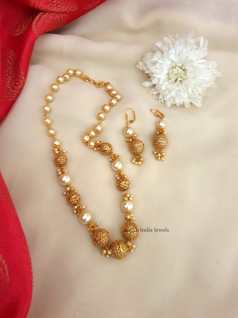 Imitation Beads & Pearls Necklace