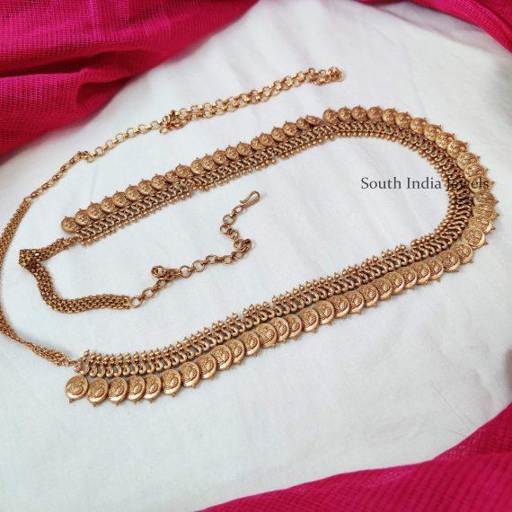 Lakshmi Coin Design Hip Belt - 01