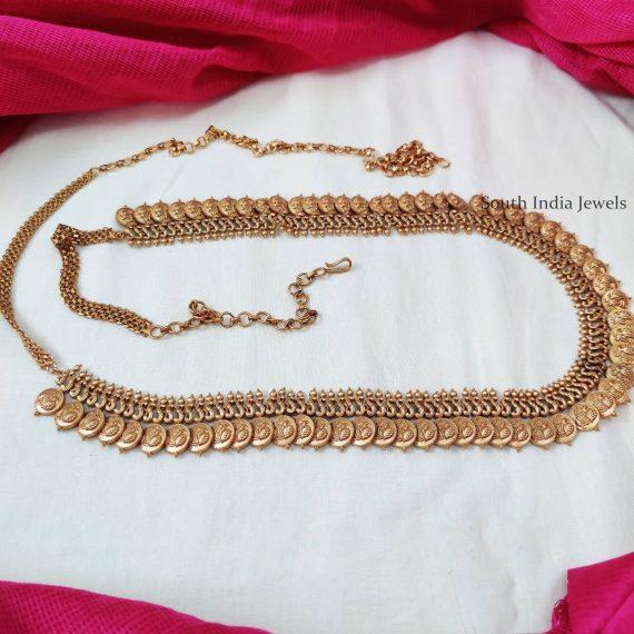 Lakshmi Coin Design Hip Belt - 02