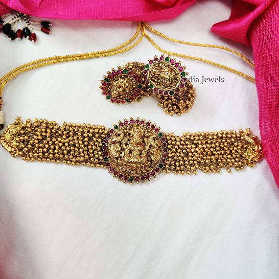Lakshmi Design Golden Beads Choker