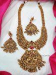 Peacock Design Golden Beads Haram