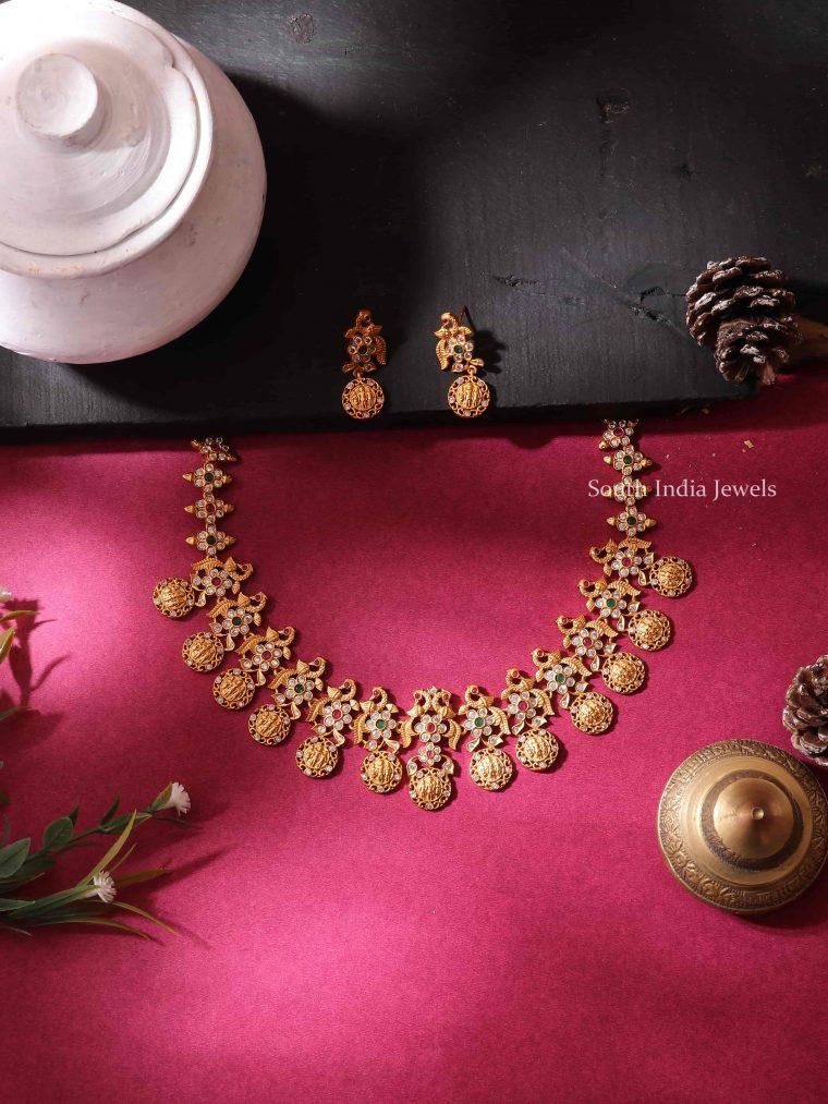 Peacock Design Ram Parivar Short Necklace