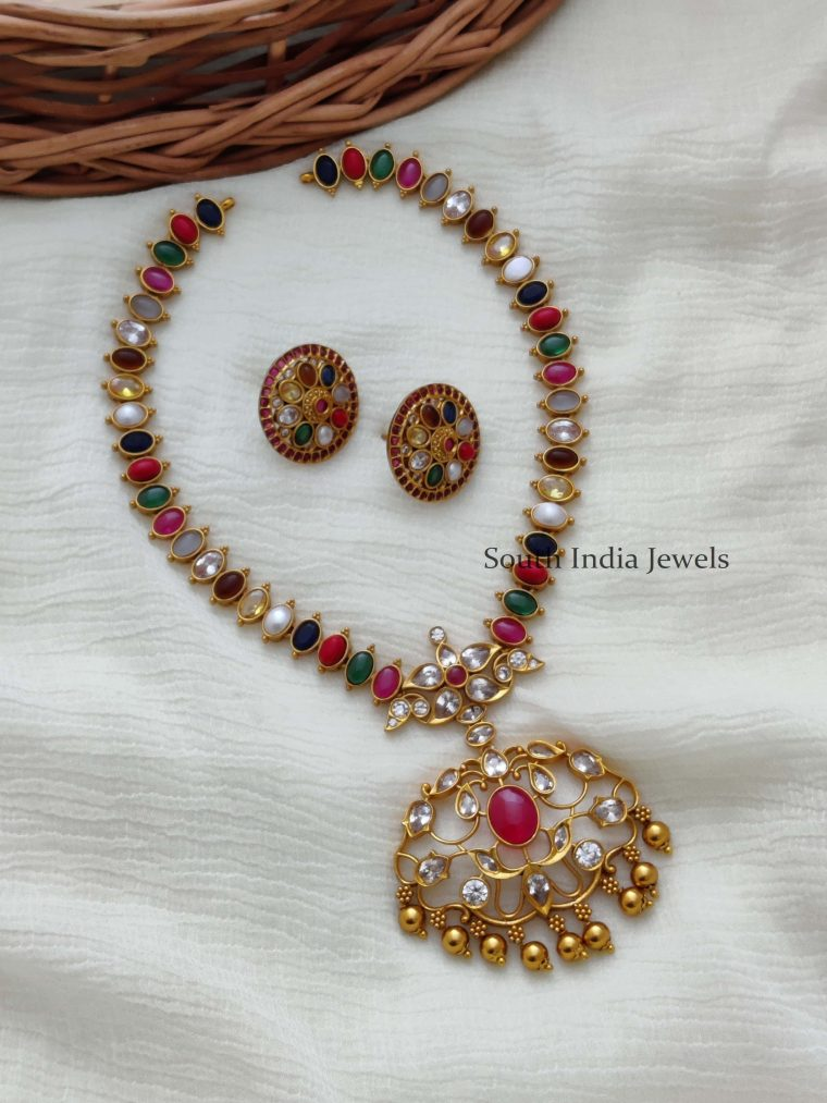 Real Navarathna Stone Necklace