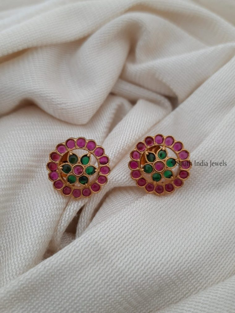 Simple Flower Design Earrings