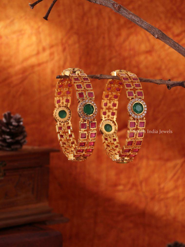 Stunning Festive Stone Bangle Set