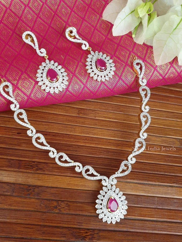 Stunning GJ Diamond Stone Necklace