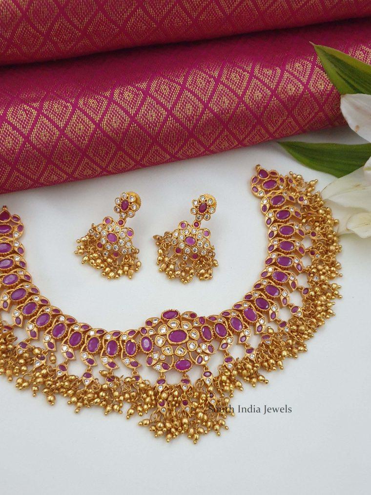 Stunning Matte Finish Necklace (2)