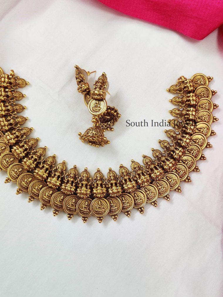 Temple Lakshmi Coin Necklace