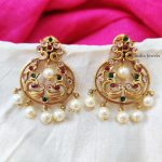Traditional AD Stone Peacock Earrings