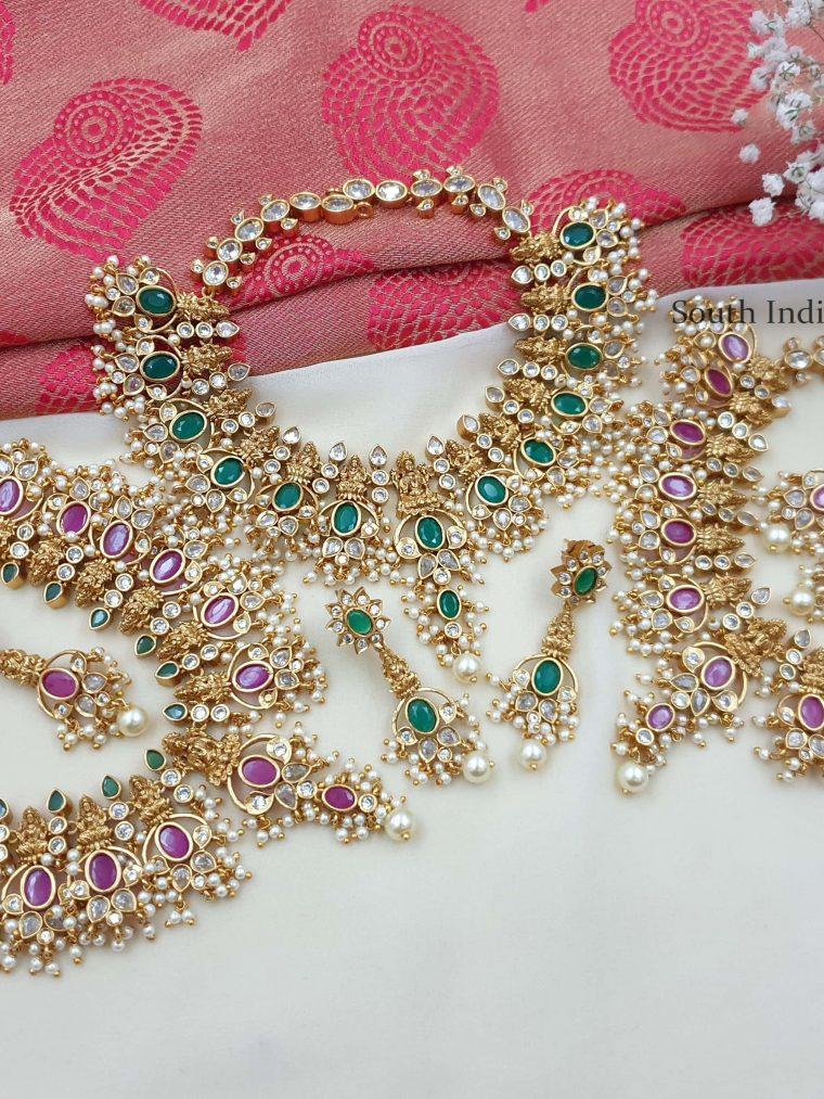 Traditional Lakshmi Guttapusalu Necklace