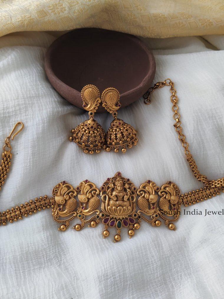 Traditional-Lakshmi-Peacock-choker-with-Jumkas.1