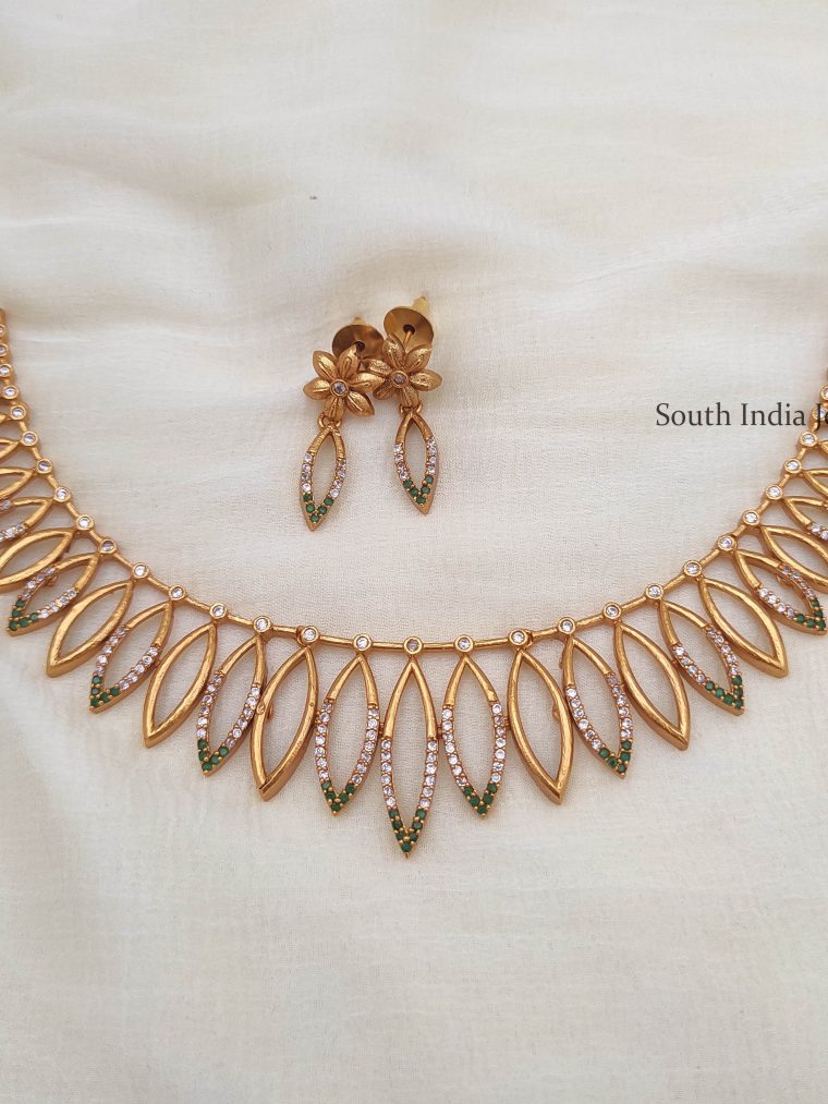 Traditional Leaf Design Necklace