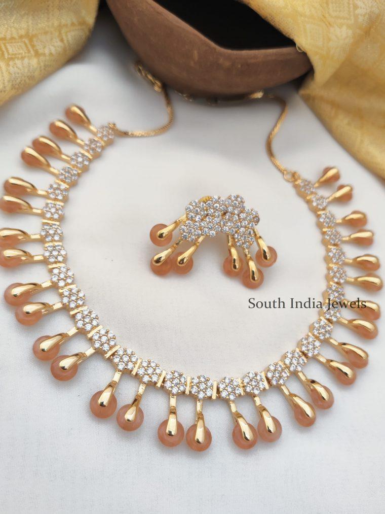 Unique Diamond Alike AD Necklace